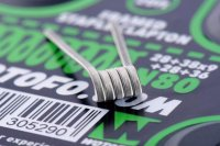 【お取り寄せ★納期 最長 約1ヶ月】Wotofo Framed Staple Clapton Wire Ni80 28GA+38GAx9+28GA+36GA 20ft