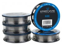 Vandyvape Resistance Wire Ni80 Wire Vape Wires 30ft/100ft★バンディーベイプ レジスタンスワイヤー ニクロム80 単線
