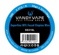 【取寄★約1ヶ月】Vandyvape Wire SS316L Superfine MTL Fused Clapton Wire 30ga X 2(=)+38ga 10ft Vape Wires