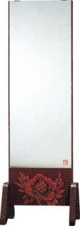 静岡県産幅54cm 一面鏡 姿見 全身ミラー 鎌倉彫 上彫 FK-159 国産品【京都−市やま家具】