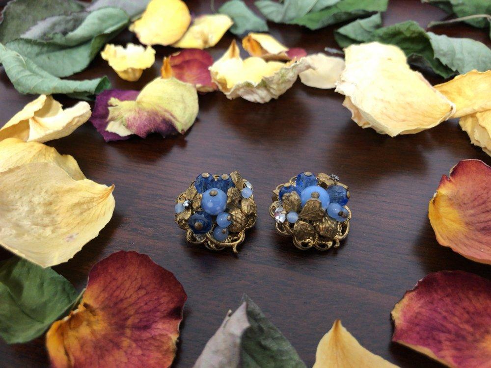 De Mario  earrings  glass goldmetal  【U.S.A】