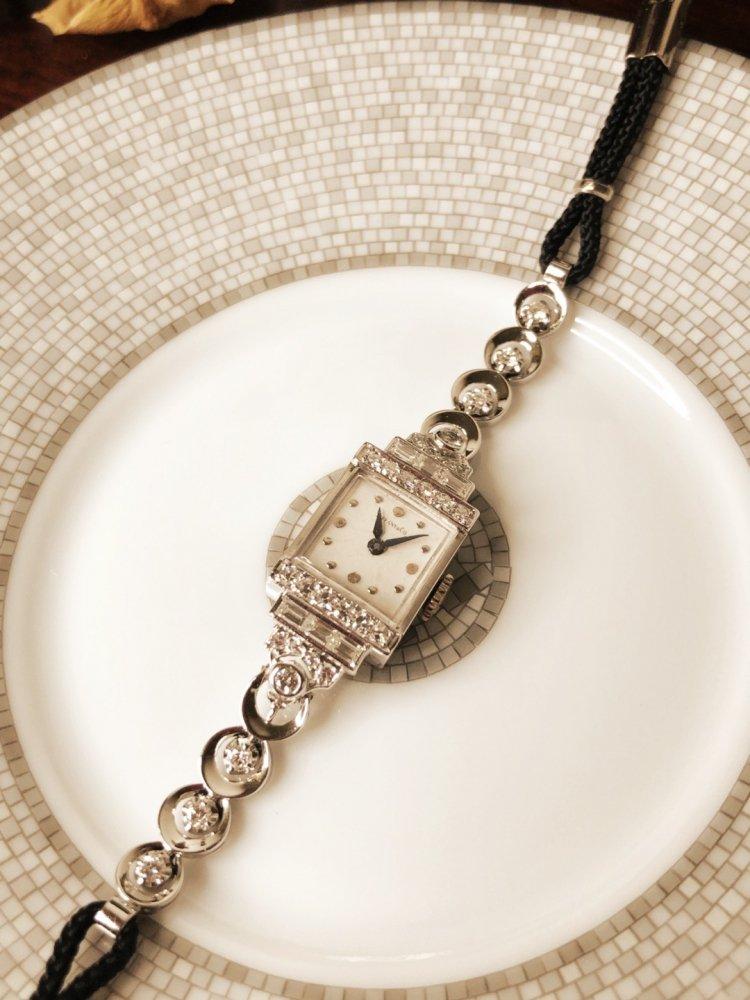 Tiffany&Co. Platinum Diamond Watch