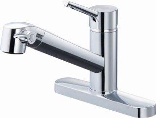 INAX JF-AF434SY(JW) キッチン用浄水器内蔵水栓 台付シングルレバー混合栓 2ホールタイプ オールインワンタイプ 一般地用