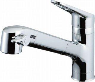 INAX JF-AB466SYX(JW) キッチン用浄水器内蔵水栓 台付シングルレバー混合栓 ホース引き出し式 オールインワンタイプ 一般地用