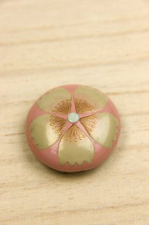奈良井志野 漆工芸帯留め ピンク桜