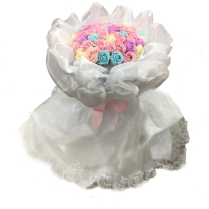 【ソープフラワー:raful】ドレスブーケ (パステル)