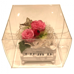 【プリザーブドフラワー】プチグランドピアノ蝶