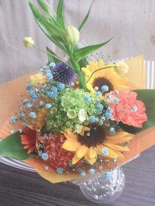 【生花  花束】季節のおまかせブーケ