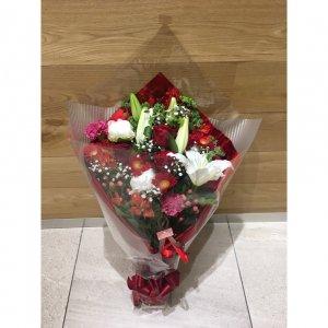 【生花  花束】豪華絢爛♡華やかな花束|赤
