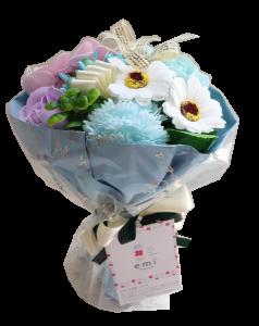 【ソープフラワー:emi】メルシーブーケM-PastelBlue