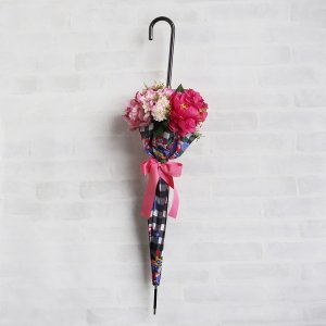 Umbrella Bouquet|Gingham Flower