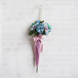 Umbrella Bouquet|Plain Bicolor-Pink