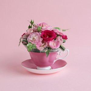 Tea cup bouquet _ピンクフラン