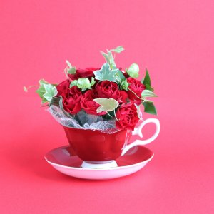 Tea cup bouquet _フランボワーズ