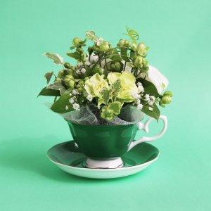 Tea cup bouquet _ミントエクレール