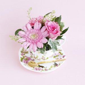 Tea cup bouquet _ストロベリーキャット