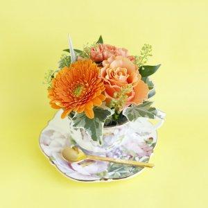 Tea cup bouquet _プラムローズ