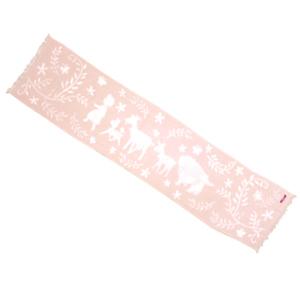 ガーゼマフラー トコトコ柄 ピンク