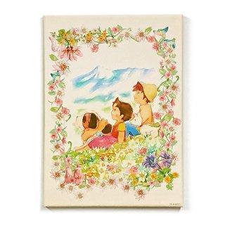 キャンバスピクチャーボード 花咲く丘柄