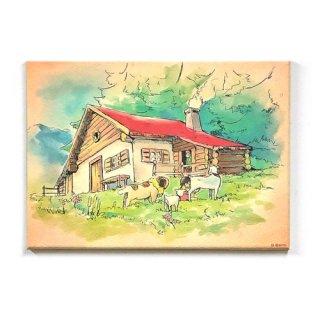 キャンバスピクチャーボード アルムの山小屋柄