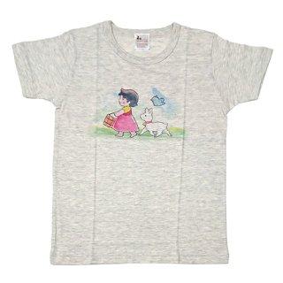 大人半袖Tシャツ まっててごらん柄 オートミール (フリーサイズ)