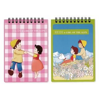 セミA6リングノート 2冊パック グリーン&ピンク
