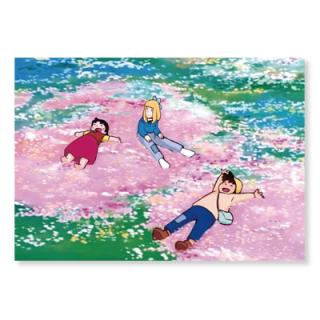 PCH-07 ポストカード お花のじゅうたん