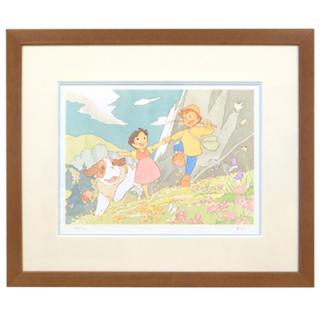 <300枚限定生産> 額装ジクレー版画「アルプスの少女ハイジ」春