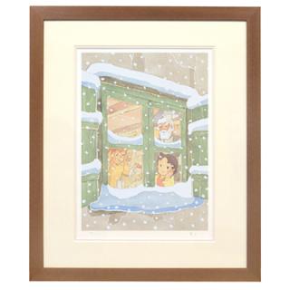 <300枚限定生産> 額装ジクレー版画「アルプスの少女ハイジ」冬