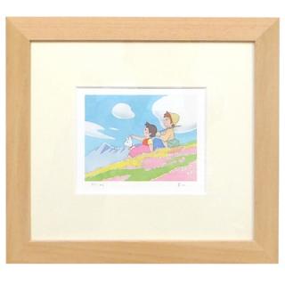 【 ☆ 残りわずか ☆ 】<150枚限定生産> 額装ジクレー版画(ミニ)「お花畑」