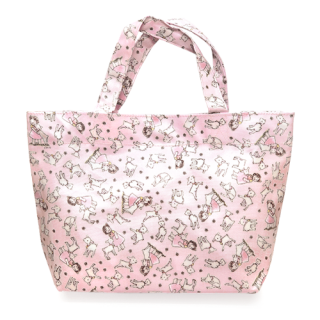 舟形トートバッグ ユキちゃんと遊ぼう柄 ピンク