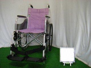 【中古車椅子】松永製作所 自走式車椅子 SA-100(パープル) (WCMA247-P)