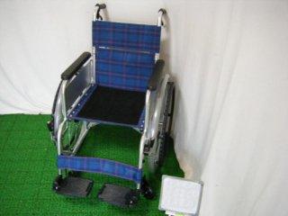 【中古車椅子】《Aランク品》日進医療器 自走式車椅子 6輪車E (WCNS201-A)