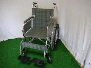 日進医療器 自走式車椅子 NA-L1(グリーンチェック) (WCNS211-GC)