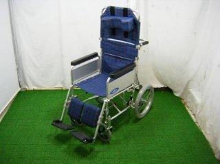 【中古車椅子】《Sランク品》日進医療器 リクライニング車椅子 NA-118B(WCNS301)