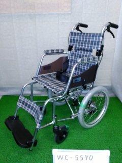 【中古車椅子】《Aランク》ミキ 介助式車椅子 AMOC-02(MOCC-43SPひじ掛け部違い)(WC-5590)