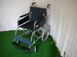 ミキ 介助式車椅子 エムワン MPC-46JD(緑チェック)(WCMI125-G)