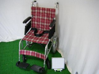 日進医療器 介助式車椅子 NAH-L7(赤)(WCNS107-R)