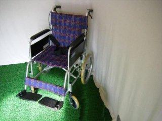 カワムラサイクル 介助式車椅子 KA302SB-40(紫チェック) (WCK108-P)