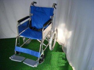 カワムラサイクル 介助式車椅子 KA302SB-40(青) (WCK108-B)