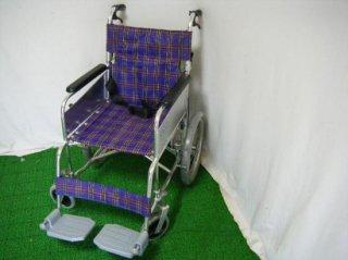 カワムラサイクル 介助式車椅子 KA300SB-40(チェック) (WCK107-CHK)