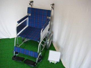 【中古車椅子】ミキ 介助式車椅子 かるがもくん(介助) MC-43KDB(WCMI127)