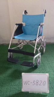 【中古車椅子】《Aランク品》松永製作所 介助式車椅子 USL-2B  (WC-5820)