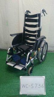 【中古車椅子】《Bランク》松永製作所 リクライニング車椅子 オアシス OS-11TRS (WC-5736)