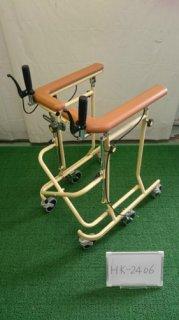【中古歩行器】《Aランク》松永製作所  6輪歩行器ホップステップSM-40 (HK-2406)
