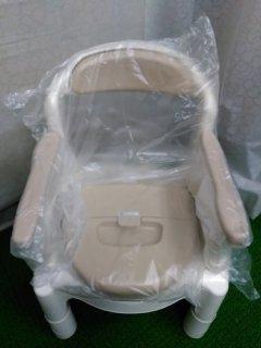 【未使用品】《SSランク》アロン化成 安寿 ポータブルトイレ FX-CP ちびくまくん(OT-5351)