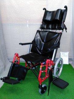 【中古車椅子】《Bランク品》カワムラサイクル リクライニング車椅子 KPF16-40 LO (WC-5793)
