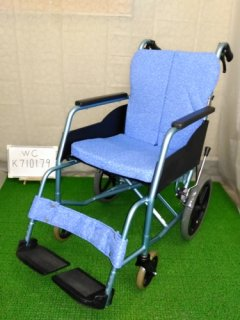 【中古車椅子】《Bランク》松永製作所 介助式車椅子 REM-8 (WC-K710179)