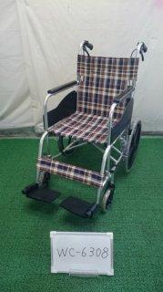 【中古車椅子】《Aランク》松永製作所 介助式車椅子 AR-300 (WC-6308)