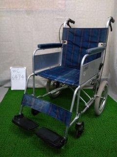 【中古車椅子】《Bランク》ミキ 介助式車椅子 かるがもくん(介助) MC-43KDB (WC-6474)